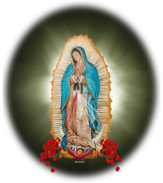 Our Lady Of                       Guadalupe Sunburst